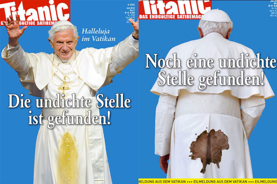 Papst Titanic-Cover