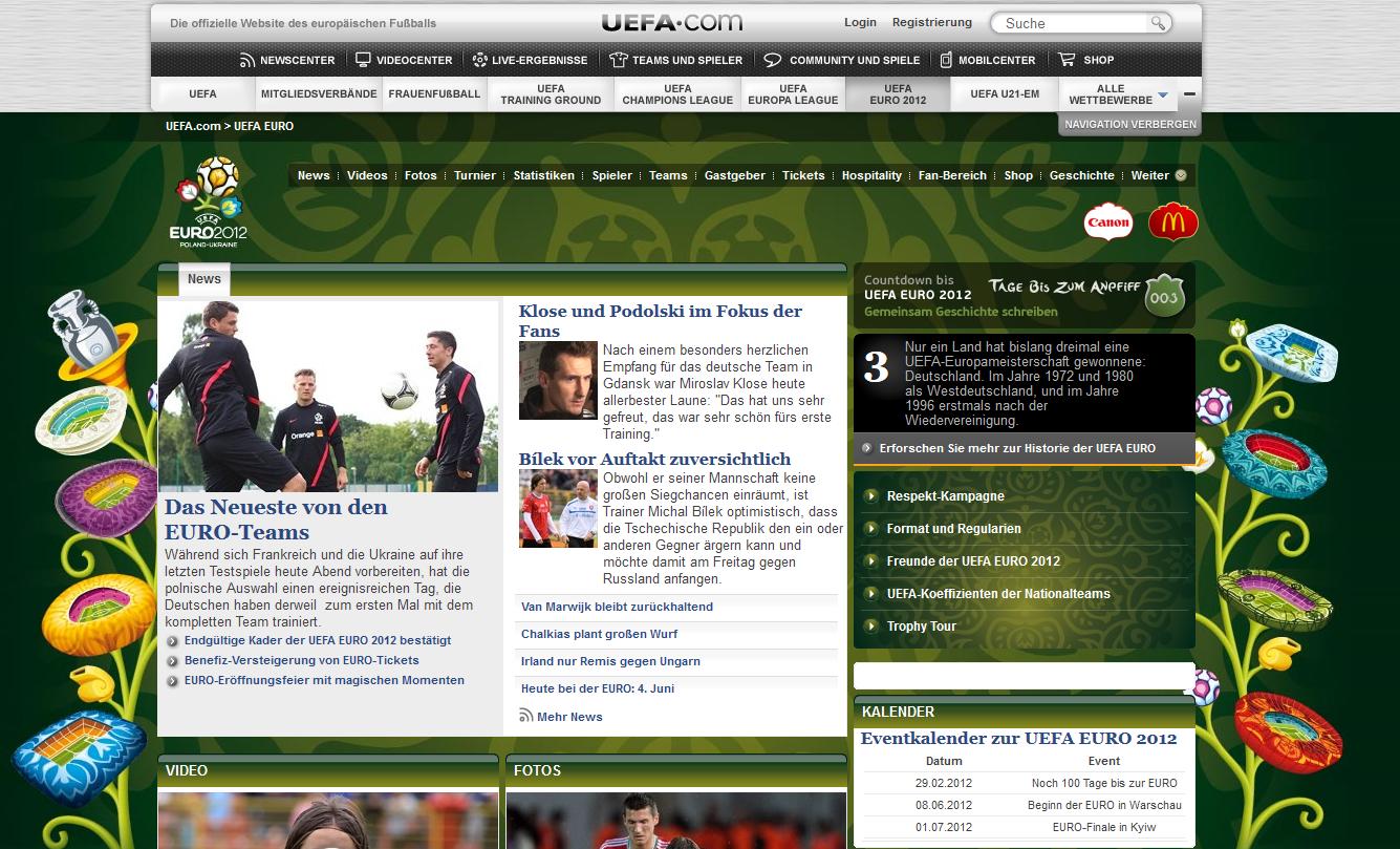 UEFA-Seite