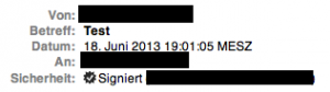 Apple Mail Kopfzeile