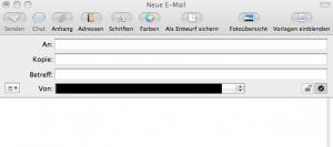 Neue Mail auf Mac OS X