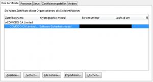 Firefox Zertifikat