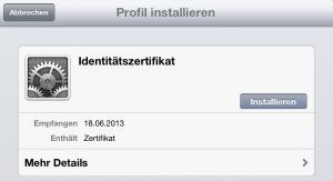 Installation auf iPad (1)