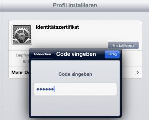 Installation auf iPad (3)