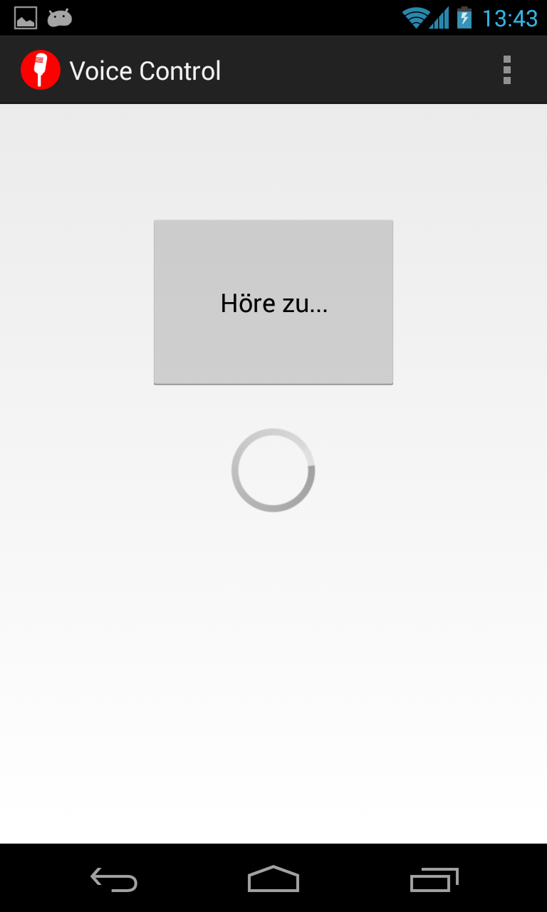"Voice Control - ""Höre zu..."""