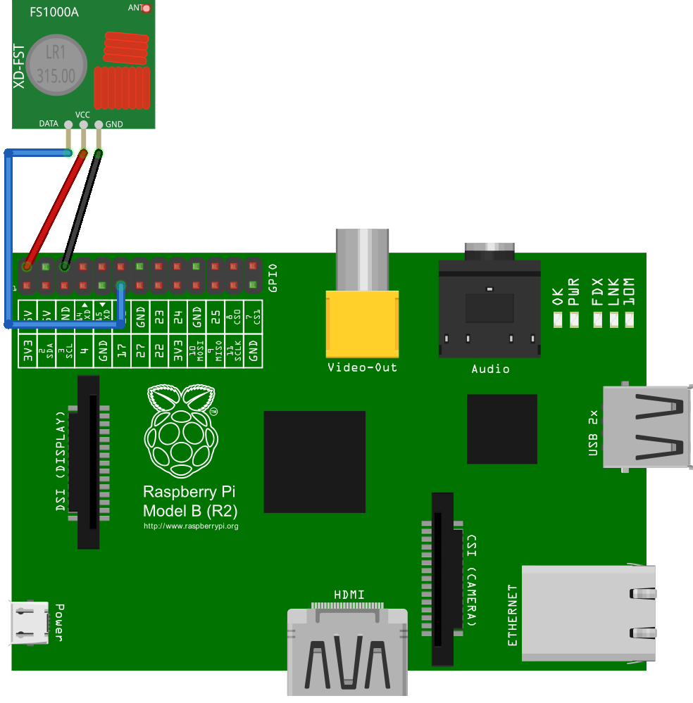 Tutorial Funksteckdosen Am Raspberry Pi 1 Wiringpi Shell Script 433mhz Transmitter